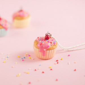 Cupcake Vanille Sprinkles apricot