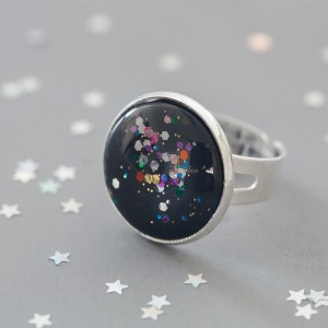 Galaxy Circus - Ring versilbert