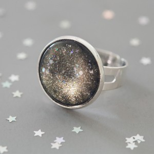 Galaxy Gold - Ring versilbert